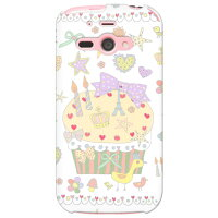 (SoftBank AQUOS PHONE ss 205SH専用)SECOND SKIN全面プリントケース(uistore (Pretty World (white)(アクオスフォン)