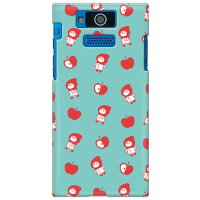 uistore (リンゴとずきんちゃん (Blue)) / for DIGNO DUAL 2 WX10K/WILLCOM (SECOND SKIN) (全面) (スマホケース)(ハードケース)