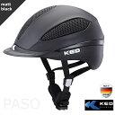 乗馬用ヘルメット KED PASO  黒 マットブラック