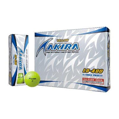 アキラプロダクツ AKIRAPRODUCTS AKIRA LD-400 ボール 超高反発モデル 1ダース イエロー