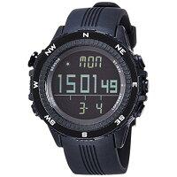 ラドウェザー腕時計デジタルコンパス 高度計 気圧計 温度計 天気予測機能 クロノグラフ 01ブラック反転液晶