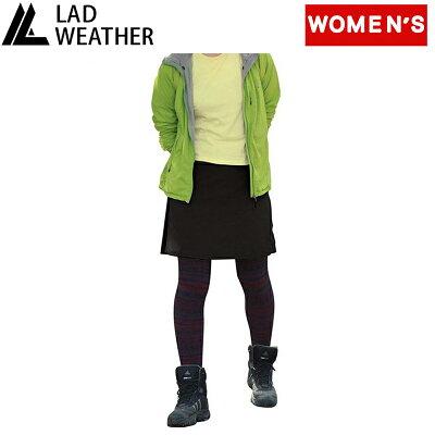lad weather ラドウェザー ライトトレッキングスカート women's l ブラック ladpants010bk l