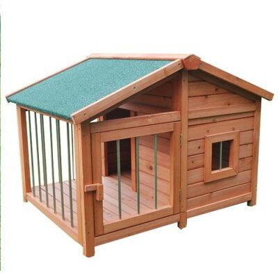 木製犬小屋 扉付き DHDX007(1台)