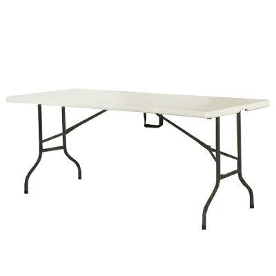 アウトドアテーブル 折りたたみ 頑丈 大型 幅180×奥行75cm
