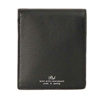 PID/ピー・アイ・ディー PAW1004 イタリアンレザー 二つ折り財布 ブラック
