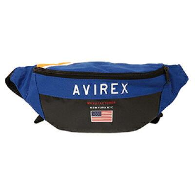 AVIREX/アヴィレックス AX2003 レトロカラー USAボディバッグ ブルー