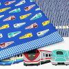 生地 綿布 Tip-top Collection 電車ボーダー オックス DT22901S1m単位の切売りトーカイ布トレイン入園準備ティップトップコレクション入園入学男の子生地