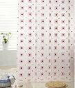 カットもできる シャワーカーテン カーテンリング付 横180×縦200cm