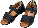 靴屋が作った 室内屋外マルチに使える万能サンダル4E ブラック 22.5cm #5500