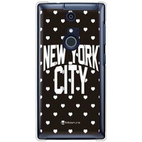 NYC ホワイトハートドット (クリア) design by Moisture / for ARROWS NX F-01F/docomo (SECOND SKIN)