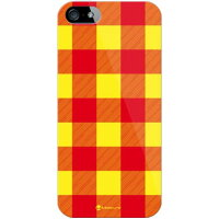 Buffalo check イエロー (クリア) design by Moisture / for iPhone 5s/SoftBank(SECOND SKIN)