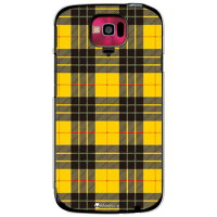 Tartan check イエロー (クリア) design by Moisture / for MEDIAS U N-02E/docomo (SECOND SKIN)