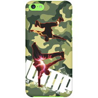 breakin-meisai×red×lemonyellow design by ARTWORK / for iPhone 5c/docomo (ハードケース)