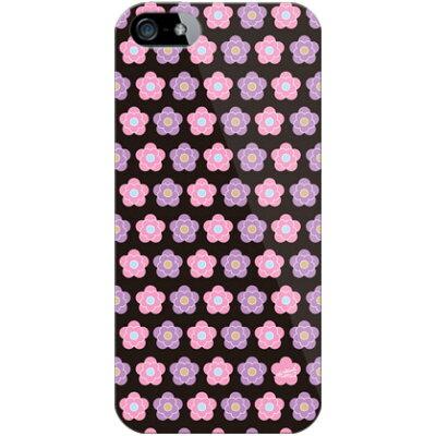 デイジー柄ピンクと紫 design by ARTWORK / for iPhone 5s/docomo (ハードケース)