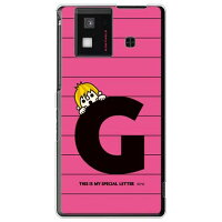 letter&boy ピンク G (クリア) design by PansonWorks / for AQUOS PHONE SH-06D/docomo (SECOND SKIN)