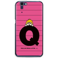 letter&boy ピンク Q (クリア) design by PansonWorks / for AQUOS PHONE ZETA SH-01F/docomo (SECOND SKIN)
