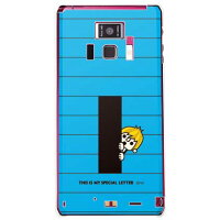 letter&boy ブルー I (クリア) design by PansonWorks / for REGZA Phone T-01D/docomo (SECOND SKIN)