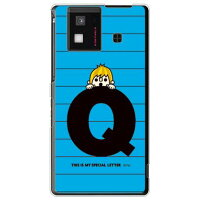 letter&boy ブルー Q (クリア) design by PansonWorks / for AQUOS PHONE SH-06D/docomo (SECOND SKIN)