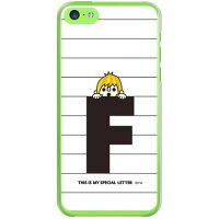 letter&boy ホワイト F (クリア) design by PansonWorks / for iPhone 5c/au (SECOND SKIN)(ハードケース)