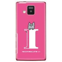 letter&cat ピンク I (クリア) design by PansonWorks / for ELUGA V P-06D/docomo (SECOND SKIN)