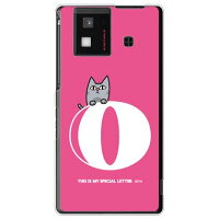 letter&cat ピンク O (クリア) design by PansonWorks / for AQUOS PHONE SH-06D/docomo (SECOND SKIN)