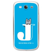 letter&cat ブルー J (クリア) design by PansonWorks / for GALAXY S III SC-06D/docomo (SECOND SKIN)
