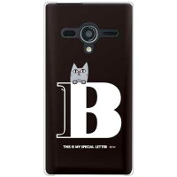 letter&cat ブラック B (クリア) design by PansonWorks / for 203SH/SoftBank (SECOND SKIN)