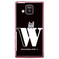 letter&cat ブラック W (クリア) design by PansonWorks / for ELUGA V P-06D/docomo (SECOND SKIN)