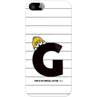 letter&boy ホワイト G (ソフトTPUクリア) design by PansonWorks / for iPhone 5s/au (SECOND SKIN)