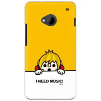 SECOND SKIN need music イエロー クリア design by PansonWorks / for HTC J One HTL22/au AHTL22-PCCL-203-Y631