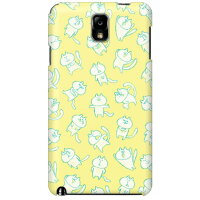 (スマホケース)uistore 「loosey cat (Yellow)」 / for GALAXY Note III SCL22/au (SECOND SKIN)