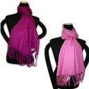大判パシュミナストール 赤紫 ローズピンク 2色組