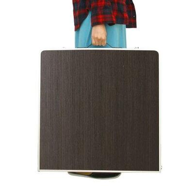 アルミピクニックテーブル 120×60cm 折りたたみ モダンブラウン AL2FT-120