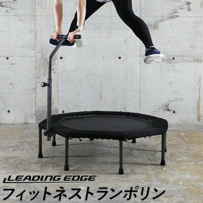 リーディングエッジ LEADINGEDGE フィットネストランポリン カバー ハンドル付き ブラック LE-FDT50