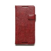 Xperia Z4 SO-03G / Xperia Z4 SOV31 / Xperia Z4 Lettering Diary ワイン Z6442XZ4S ワイン グッズ
