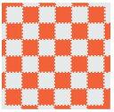 MAMENCHI フロアマット つなげてカラフル 全長約174×174cm オレンジベージュ