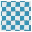 MAMENCHI フロアマット つなげてカラフル 全長約174×174 cm ブルーベージュ