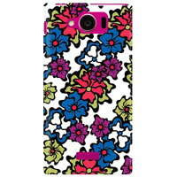 (スマホケース)小野 留依聖 「Flower-2」 / for AQUOS PHONE SERIE mini SHL24/au (SECOND SKIN)
