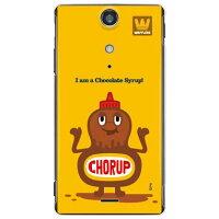 (スマホケース)chocolate syrup (クリア)design by PansonWorks / for Xperia GX SO-04D/docomo (SECOND SKIN)