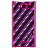 SECOND SKIN ROTM Stripe ブラック クリア design by ROTM / for AQUOS PHONE SERIE mini SHL24/au ASHL24-PCCL-202-Y397
