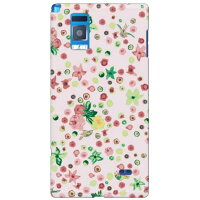 SECOND SKIN SINDEE Dot Flower / for Optimus G LGL21/au ALGL21-ABWH-193-K617