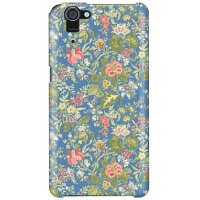 SECOND SKIN SINDEE Nooma Flower ブルー / for AQUOS PHONE SERIE SHL23/au ASHL23-ABWH-193-K619
