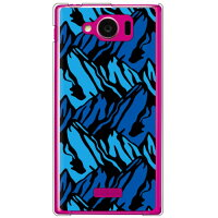 YESNO マウンテン ブルー クリア / for AQUOS PHONE SERIE mini SHL24/au ASHL24-PCCL-201-N008