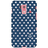 SECOND SKIN uistore Dot Anchor / for スマートフォン for ジュニア2 SH-03F/docomo DSH03F-ABWH-194-X057