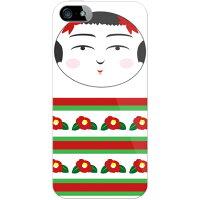 こけし 椿 クリア / for iPhone SE/5s/SoftBank