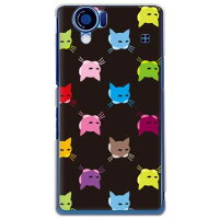 SECOND SKIN SINDEE Cat-World ブラック クリア / for AQUOS PHONE 102SH II/SoftBank SSH122-PCCL-277-Y695