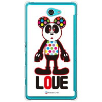 (スマホケース)Love Panda (クリア)design by Moisture / for Xperia ZL2 SOL25/au (SECOND SKIN)