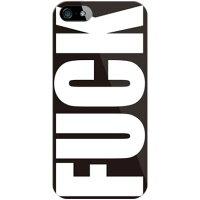 (スマホケース)Cf LTD FUCK(ファック)大 ブラック (クリア)/ for iPhone SE/5/SoftBank (Coverfull)