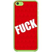(スマホケース)Cf LTD FUCK(ファック)小 レッド (クリア)/ for iPhone 5c/au (Coverfull)