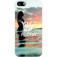 (スマホケース)HawaiianCollectionシリーズ アイランドガール (クリア)/ for iPhone SE/5s/au